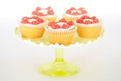 Cake Stand with Cupcakes Stock Image