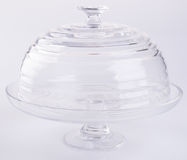 cake stand or glass cake tray on a backgeound. Royalty Free Stock Photo