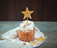 Cake with star topper Royalty Free Stock Image