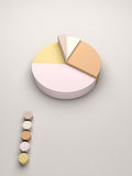 Cake statistics. For business reports and statistics Stock Photo