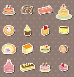 Cake stickers. Cartoon vector illustration Stock Photos