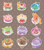 Cake stickers Stock Images
