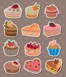 Cake stickers. Cartoon vector illustration Stock Photo