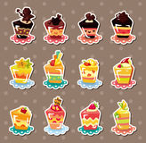 Cake stickers Stock Image