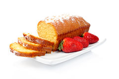 Cake with strawberries Royalty Free Stock Images