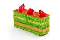 Cake with strawberries Stock Images