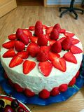 Cake with strawberries. Stock Image