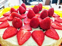 Cake with strawberries. Royalty Free Stock Images