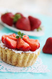 Cake with strawberries Royalty Free Stock Photo