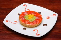 Cake of strawberry Stock Photo