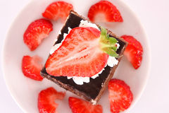 cake with strawberry Royalty Free Stock Image