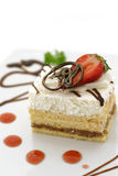 Cake and Strawberry Royalty Free Stock Images