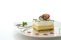 Cake and Strawberry Stock Photos