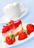 Cake with strawberry Royalty Free Stock Photography