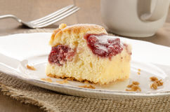 Cake with strawberry filling and powdered sugar Stock Photos