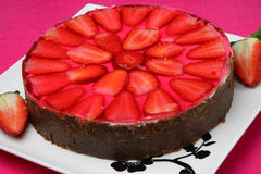 Cake with strawberry fruit Stock Image