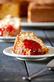 Cake With Strawberry Stock Photo