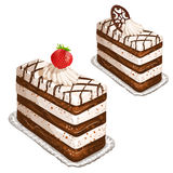 Cake with strawberry Stock Image
