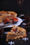Cake stuffed with almond and fig Royalty Free Stock Images