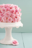 Cake with sugar roses Royalty Free Stock Image