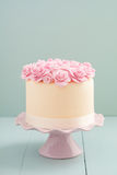 Cake with sugar roses Stock Photo