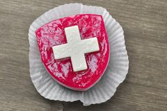 Cake with Suisse flag. Stock Photography