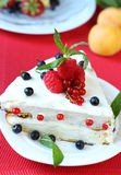 Cake with summer berries Royalty Free Stock Image