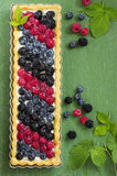 Cake with summer berries. Stock Images