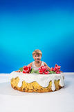 Cake with a surprise Royalty Free Stock Image