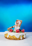 Cake with a surprise Stock Photography