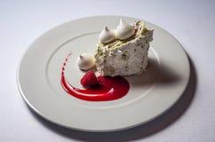 Cake Swan Lake stock photos