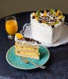 Cake. A sweet cake ready to serve stock photos