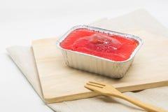 Cake sweetmeat on dining table. Strawberry cake sweetmeat on dining table Royalty Free Stock Photos
