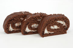 Cake swiss roll pieces Stock Image