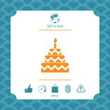 Cake symbol icon Royalty Free Stock Photography