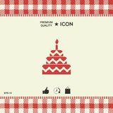 Cake symbol icon Royalty Free Stock Image