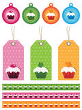 Cake tags Royalty Free Stock Photos