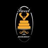 Cake or tart  logo. Illustration Royalty Free Stock Images