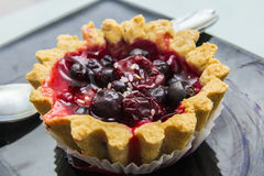 Cake tartlet with berries Stock Image