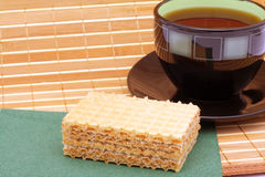 Cake and tea Stock Images