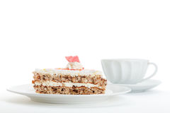 Cake and tea Royalty Free Stock Photos