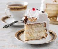 Cake and tea. Stock Photo