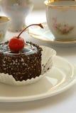 Cake and tea stock photography