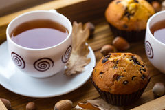 Cake and tea Stock Photography