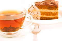 Cake and tea. Stock Photo