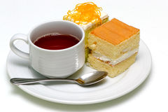 Cake and tea Royalty Free Stock Photo