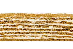 Cake texture on white royalty free stock photography