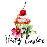 Cake with title Happy Easter Royalty Free Stock Photo