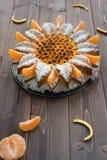Cake to the mandarine Stock Image