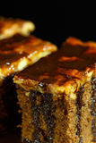 Cake toffee with chocolate on top royalty free stock images